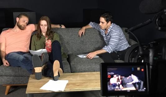 John Michael McDonald (Miko), Katie Ford (Riley) and Andrew Romano (Richie)
