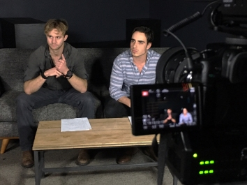 Zack Roundy (James) and Andrew Romano (Richie)