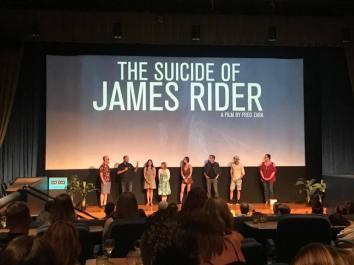 Q&A after the screening, with Joe Zara, Fred Zara, Kelly Diegnan, Aviva Christie, Erin Laine, Daniel Wachs, Zack Roundy, Kris Zara