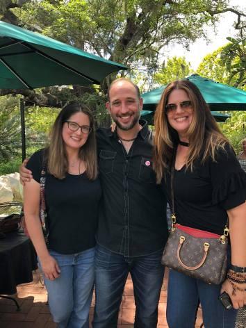 Fred Zara with Associate Producers Margi Angyal Dawson and Viki Angyal Gooch